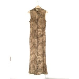 Joseph Ribkoff Animal Print Sleeveless Maxi Dress